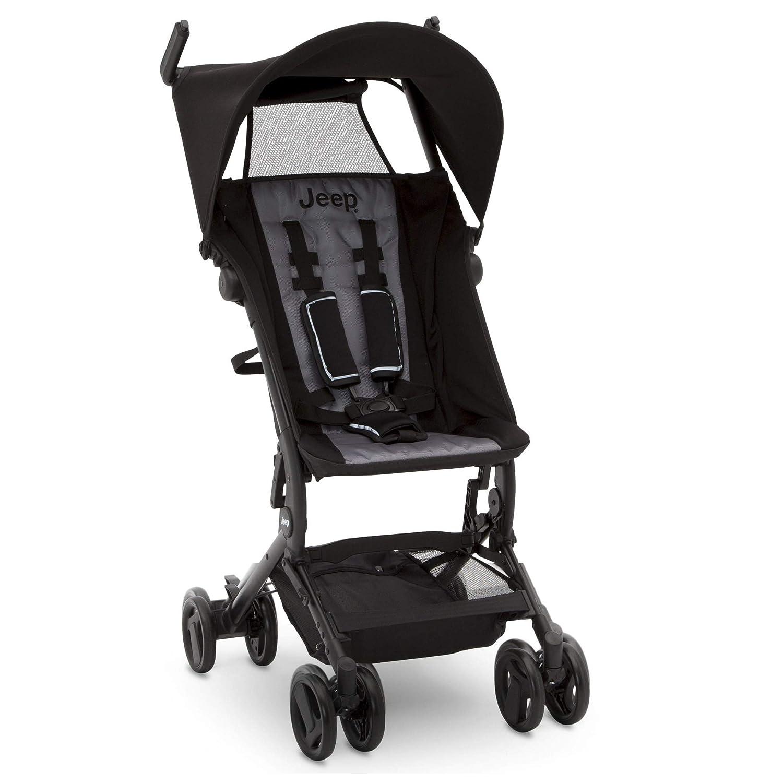 Jeep Clutch Plus Travel Stroller with Reclining Seat by Delta Children, Black/Grey