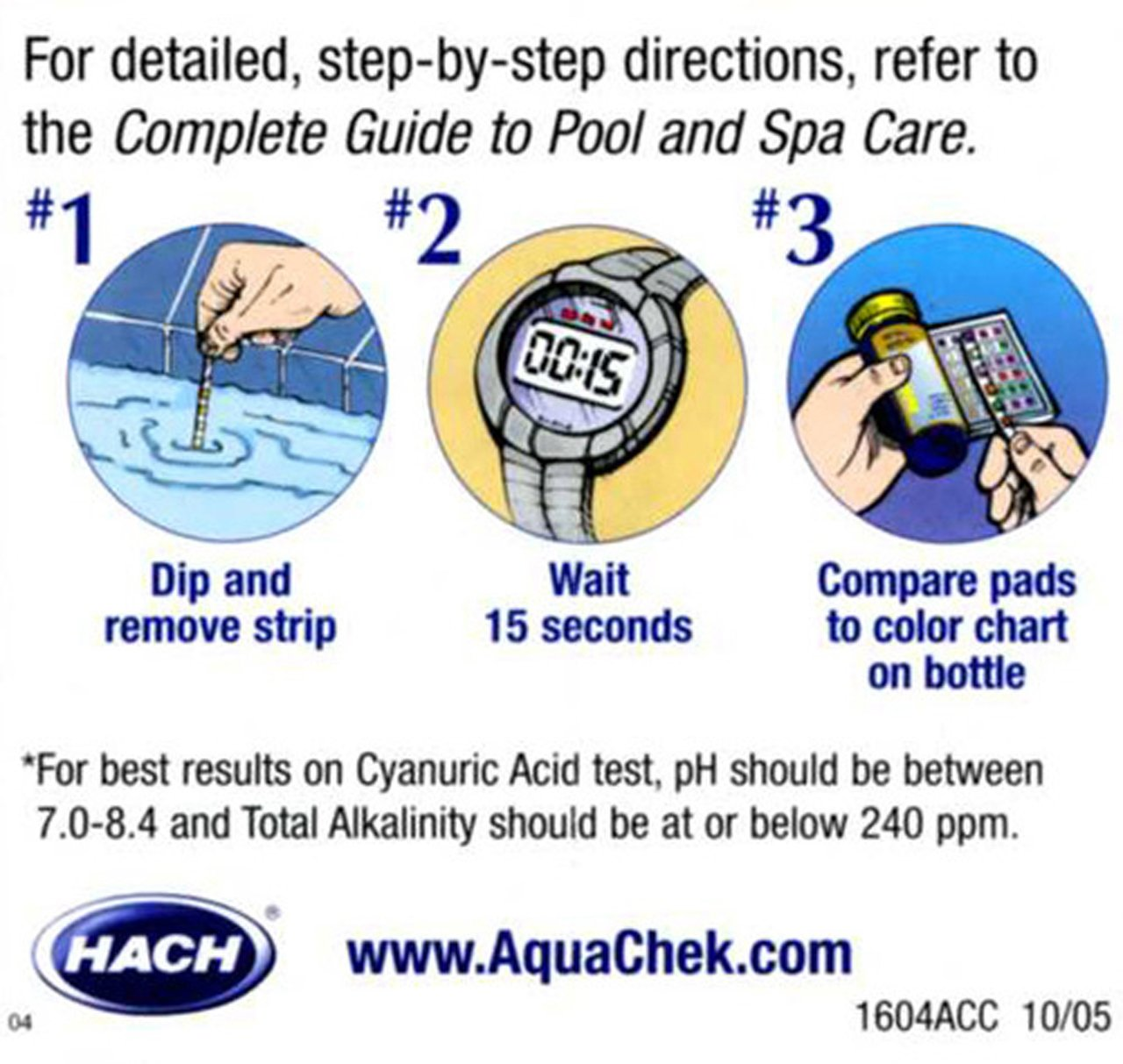 Amazon aquachek 541604a select kit test strip for swimming amazon aquachek 541604a select kit test strip for swimming pools ph test kits garden outdoor nvjuhfo Image collections