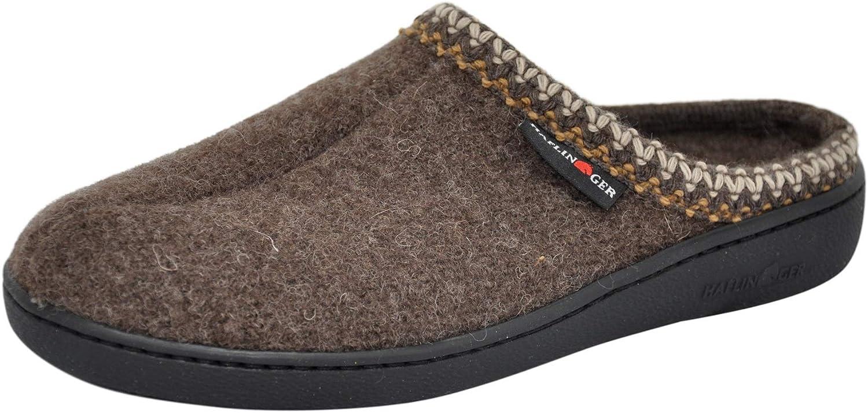 HAFLINGER Unisex AT Wool Hard Sole Slippers