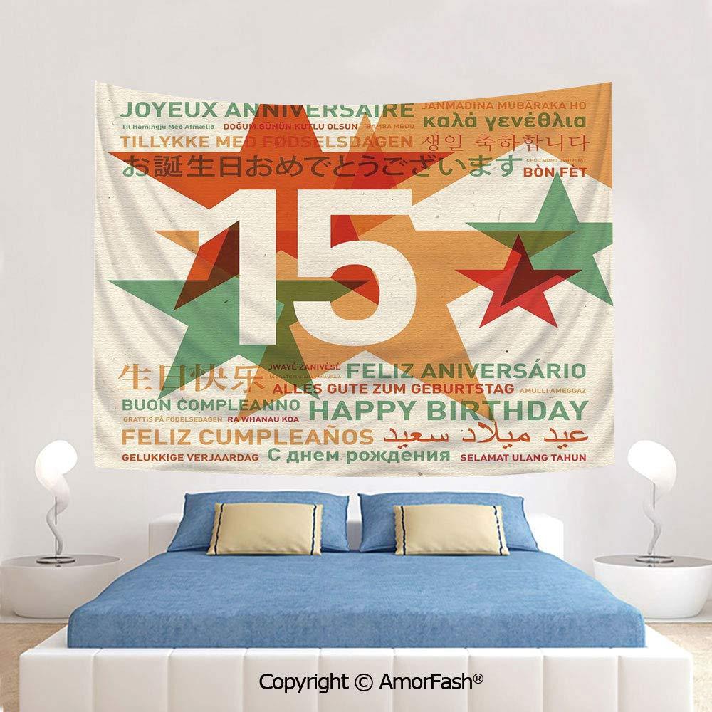 Amazon.com: AmorFash 15th Birthday Decorations Printing ...