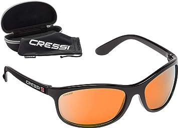 dd9627f06d Cressi Rocker Floating Sunglasses Gafas de Sol Deportivas Flotantes con  Estuche Rígido, Unisex Adulto, Negro/Lentes Espejadas Naranja, Talla Única:  ...