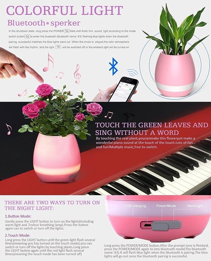 Amazon.com: Smart Music Player Planter, DIY Flower Pot Night Light,  Plant Pot Room Decor, Birthday Gift For Children, LED Light Party  Decorations, ...