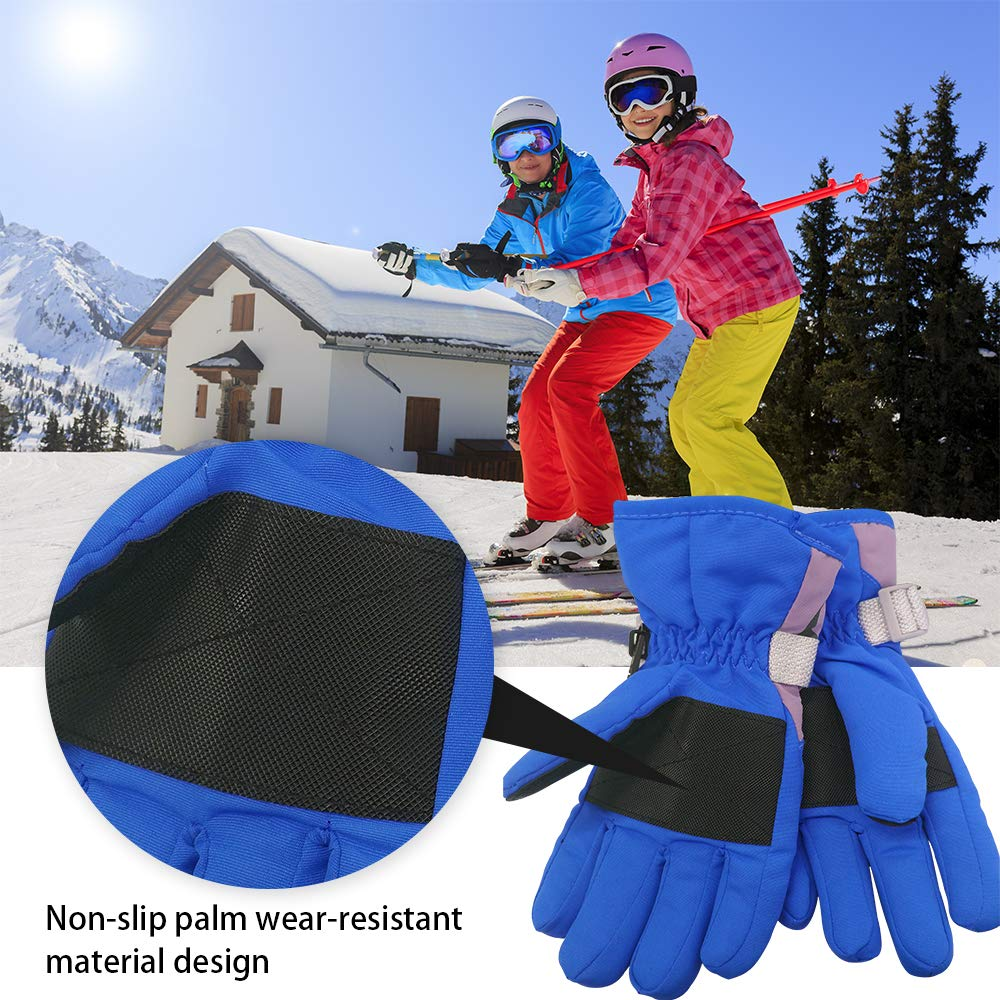 THAT Kids Mittens,Ski Gloves,Waterproof Anti-Slip Kids Ski Glvoes,Windproof Thermal Gloves For Outdoor Sports,suitable For Age 3-8