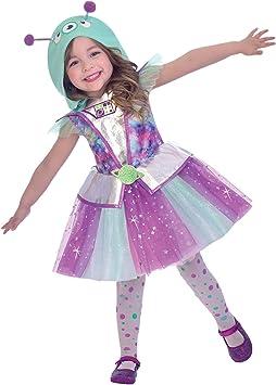LIRAGRAM ESPAÑA, S.L.L. Disfraz de Alien Adorable para niña T2 (3/4A): Amazon.es: Juguetes y juegos