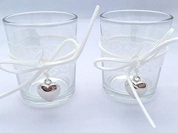 Treasured Memory 6x Teelichtglas Kerzenglas Votivkerzen