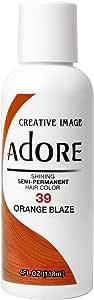 Adore Semi-Permanent Haircolor #039 Orange Blaze 4 Ounce (118ml)