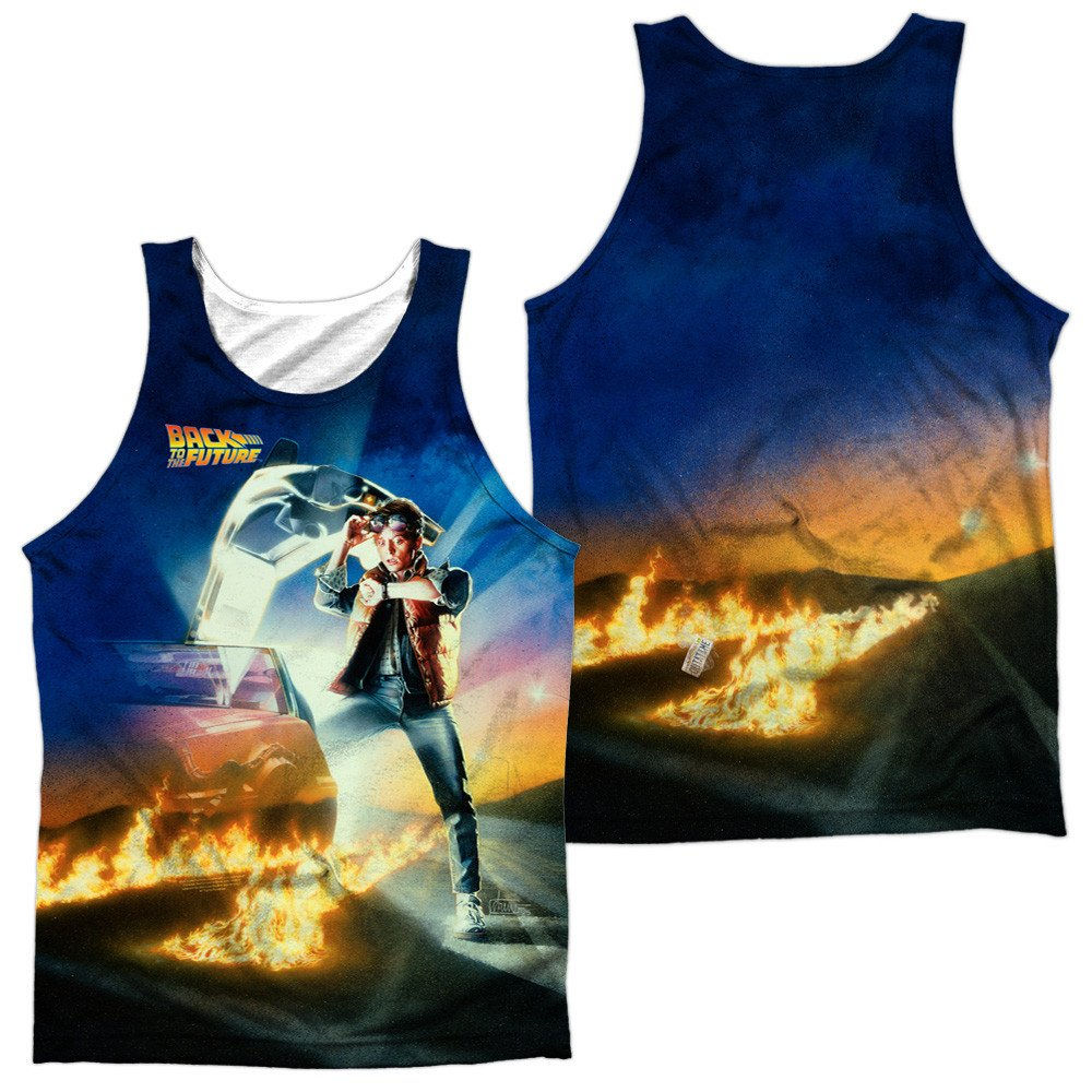 Movie Poster Adult Tank Top Back To The Future