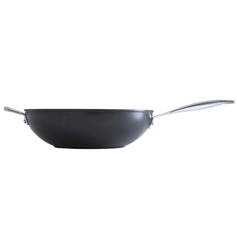 Le Creuset- Sartén Wok de Aluminio Forjado con Antiadherente, 26 cm, color Negro: Amazon.es: Hogar