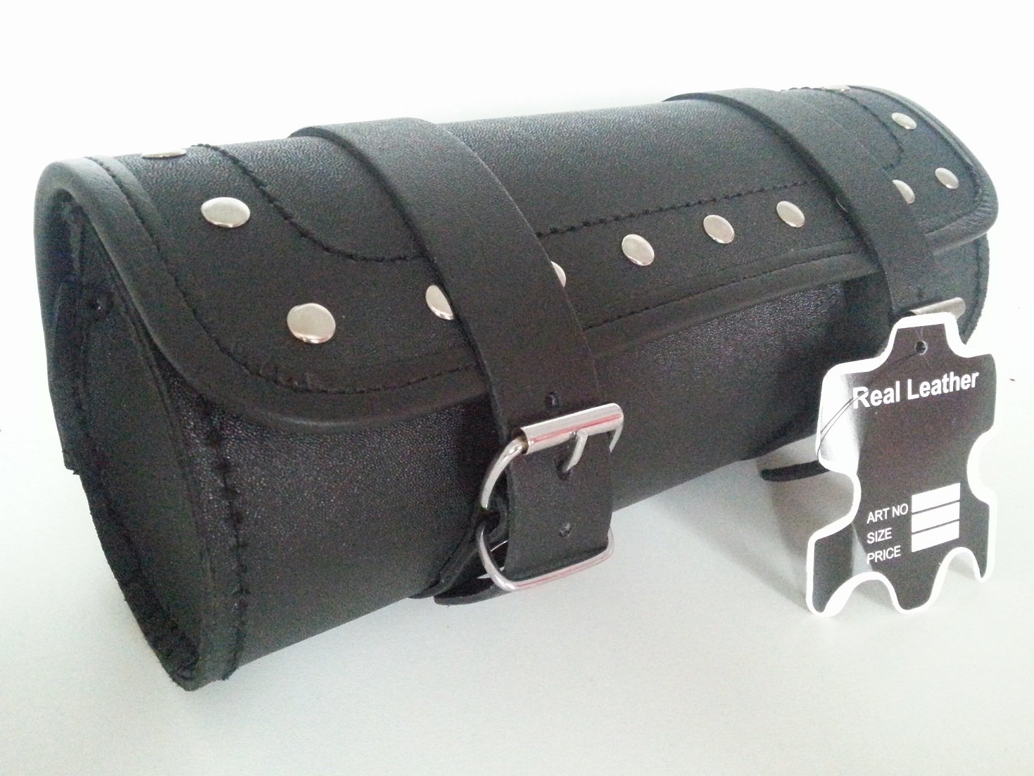 ukshopsite Motorcycle Motorbike Genuine Leather Tool Roll Saddle Bag TR7