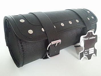 ukshopsite Motorcycle Motorbike Genuine Leather Tool Roll Saddle Bag TR2