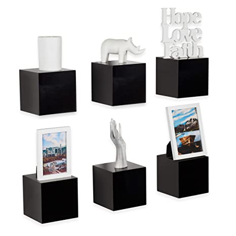 Amazon.com: Decorativo Estantes de pared cuadrado cubos ...