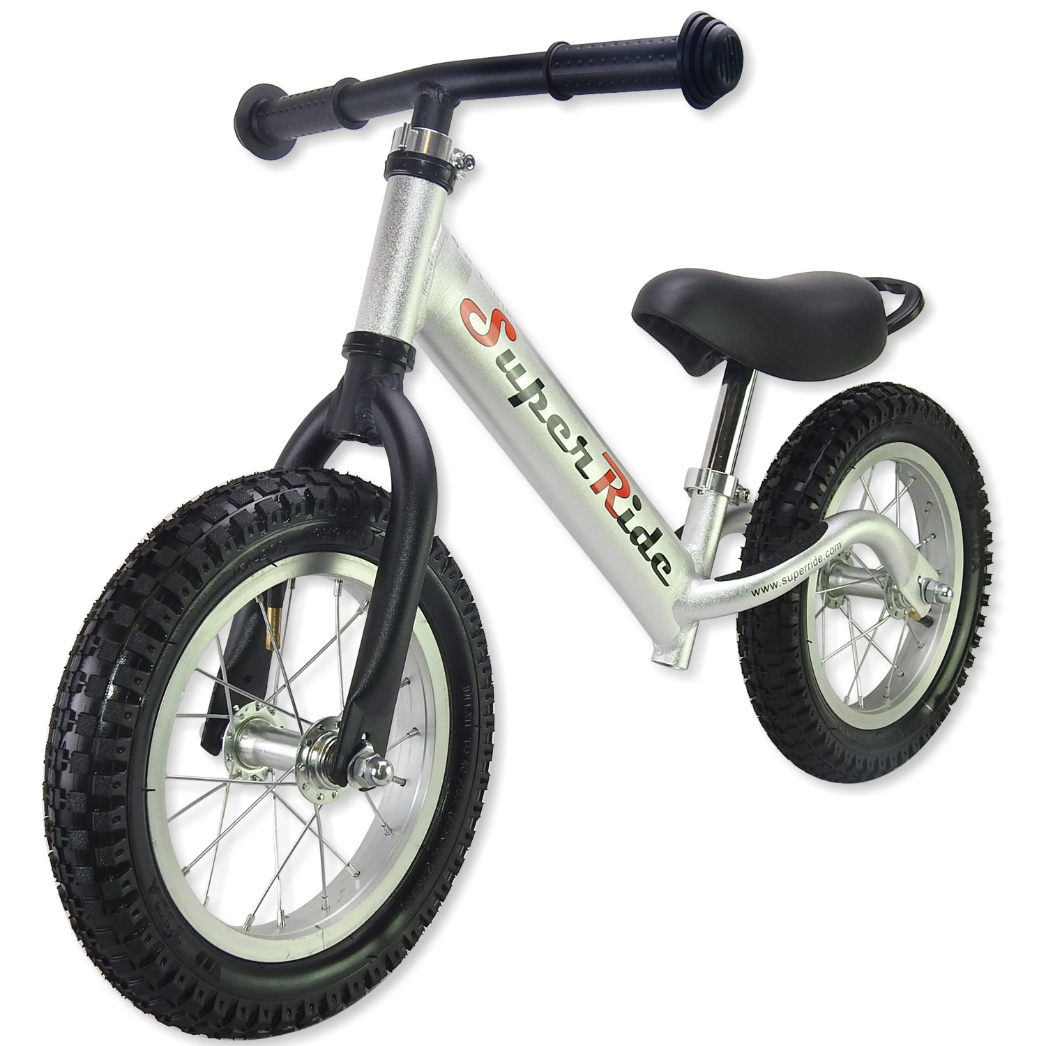 Superride Balance Bike for Kids & Toddlers - Full Aluminum Frame & Rim - Adjustable Seat & Handlebar for 2 3 4 5 & 6 Years Old Boy and Girl - No Pedal Lightweight Push Bicycle - Offroad Inflated Tires