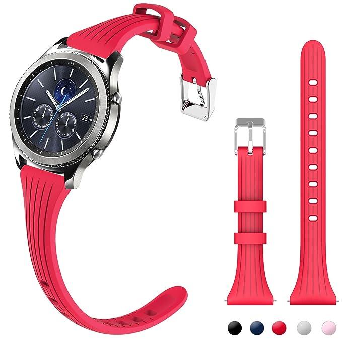 Gear S3 Bandas, correa de reloj de silicona de liberación ...