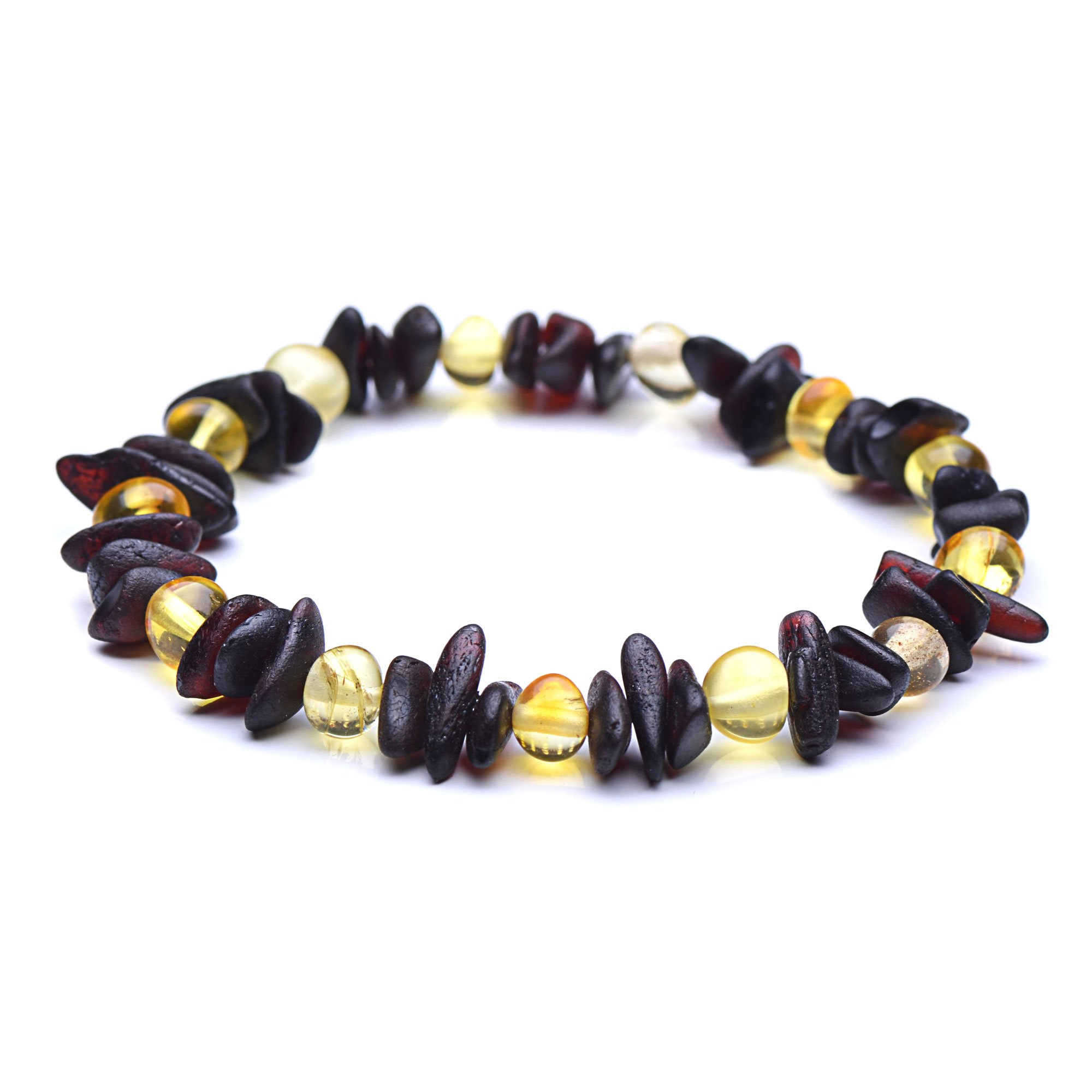 A Unique Baltic Amber Bracelet for Woman - 3 Sizes to Choose - Authentic Baltic Amber (7.8inches) by Genuine Amber