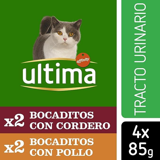 Ultima Comida Húmeda para Gato para Prevenir Problemas del Tracto Urinario - Paquete de 10 bolsas con 4 pouches, 3,4 kg: Amazon.es: Productos para mascotas