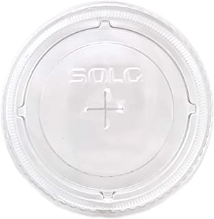 product image for SOLO Cup Company Straw-Slot Cold Cup Lids, Clear, 200 Count (200 Count)