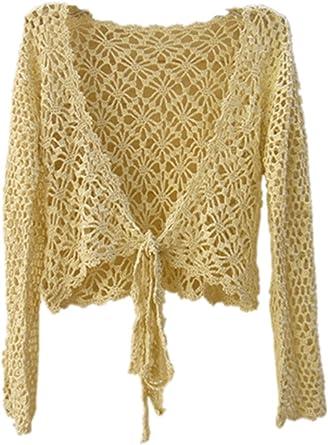 Black Long Sleeve Hand Crocheted Top