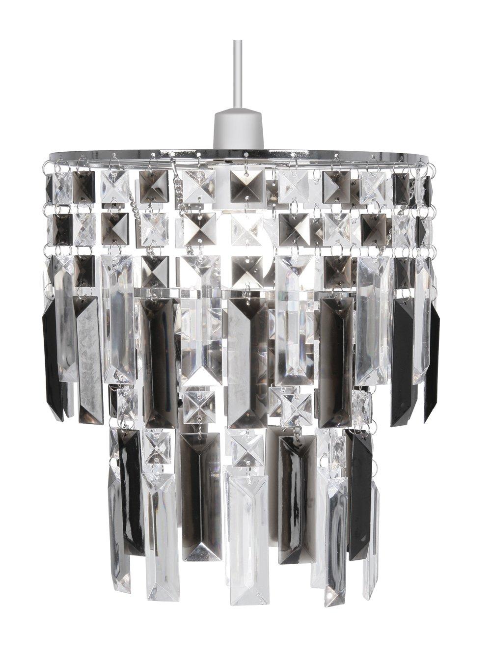 Oaks Lighting Maia - Lámpara de techo (estructura de cromo con láminas de acrílico), color gris y transparente 2801 SM