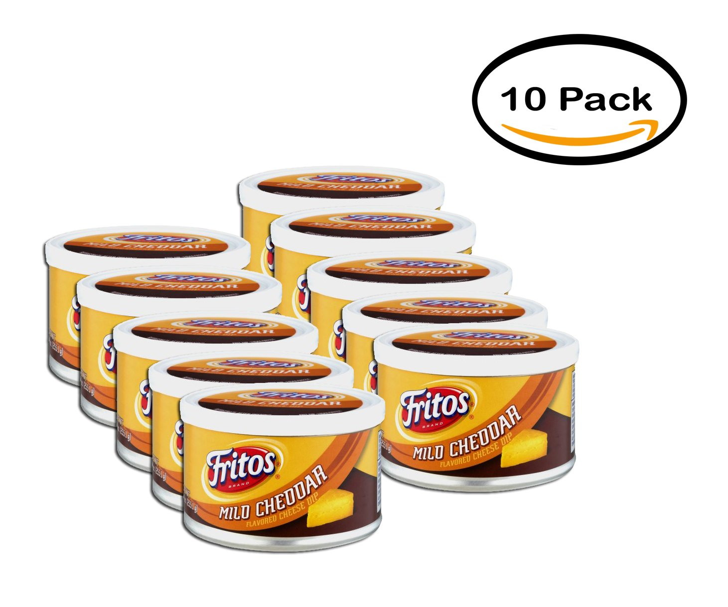 PACK OF 10 - Fritos Mid Cheddar Flavored Cheese Dip, 9 oz