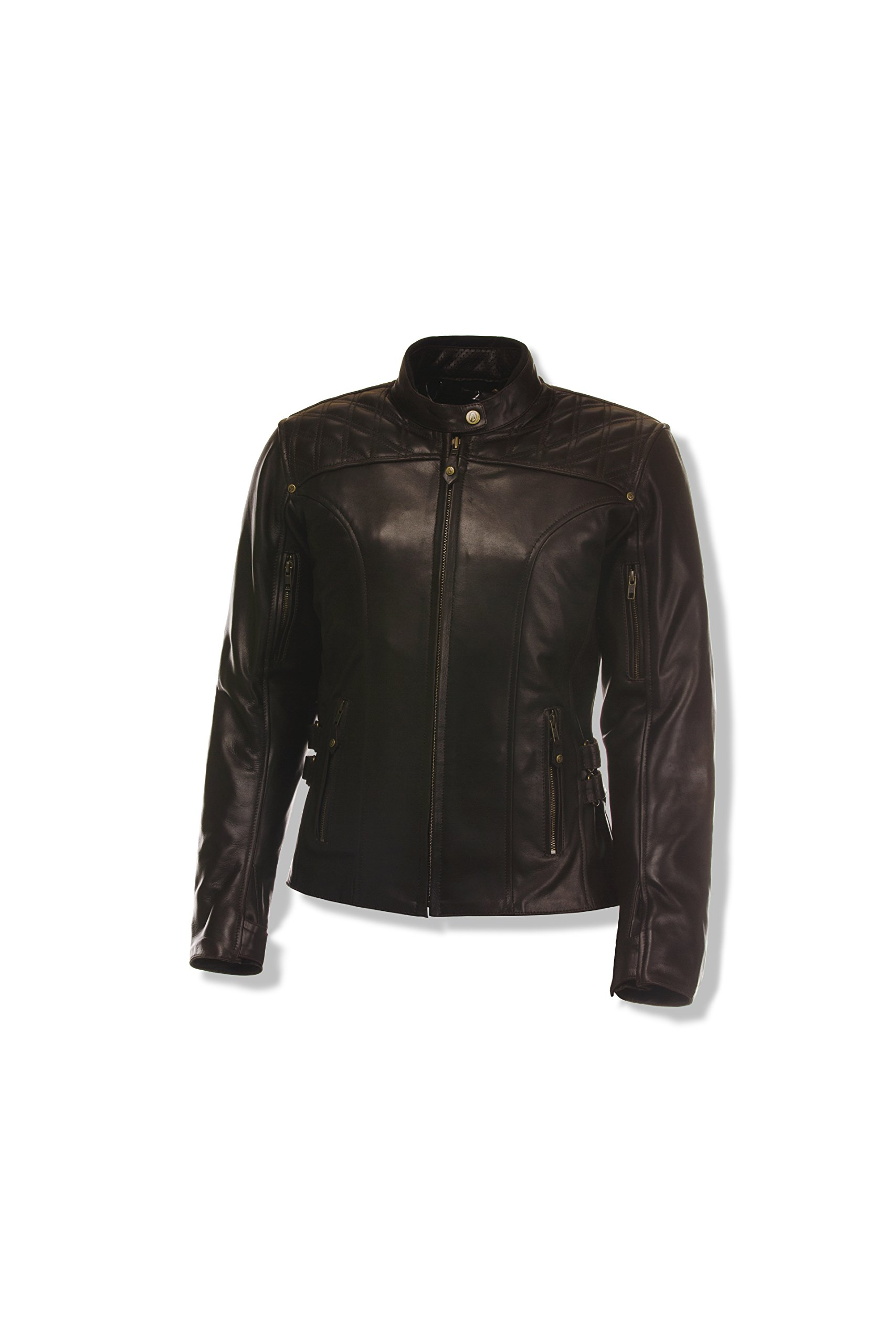 Olympia Sports Women's Janis Leather Jacket (Brown, X-Small)