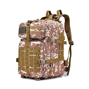 zyy 50 L 3 Day Assault Tactical Mochilas al Aire Libre Mochila Bolsa de Camping - Desert Digital (Color : Beige): Amazon.es: Hogar