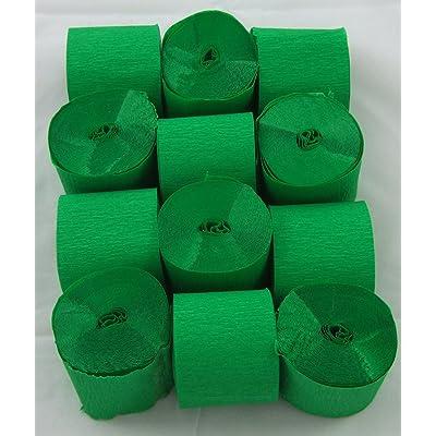 12 Verde Claro. Papel crepé serpentinas 45mm x 10metros. 14 colores vibrantes siempre en stock: Oficina y papelería