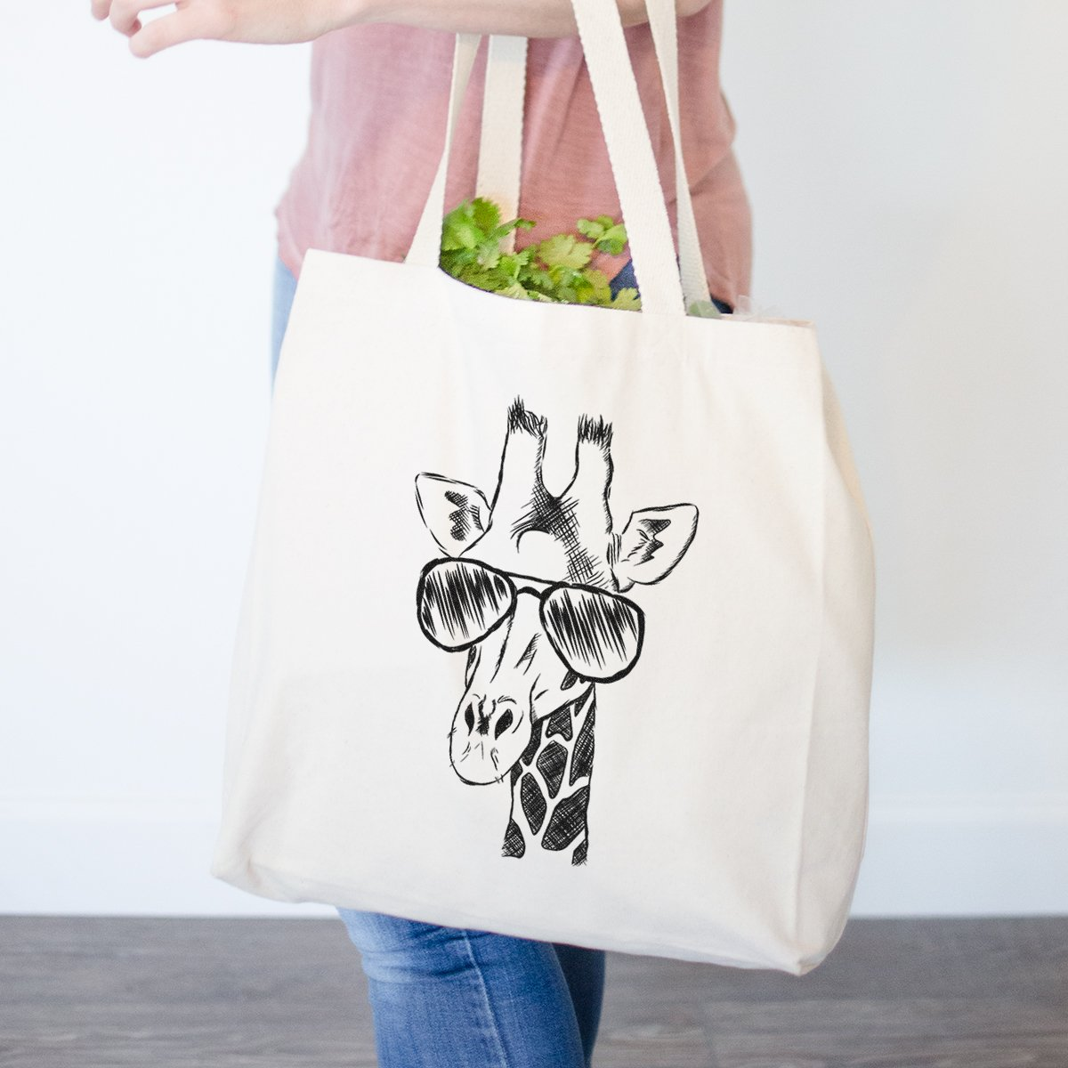 気質アップ (Printed Both Sides) - Geoffrey 1 the x Giraffe Heavy Duty Printed 100% Cotton Canvas Tote Shopping Reusable Grocery Bag 14.75 x 14.75 x 5 B0793FJB2Z Printed 1 Side Printed 1 Side, ノカミチョウ:47275733 --- vezam.lt