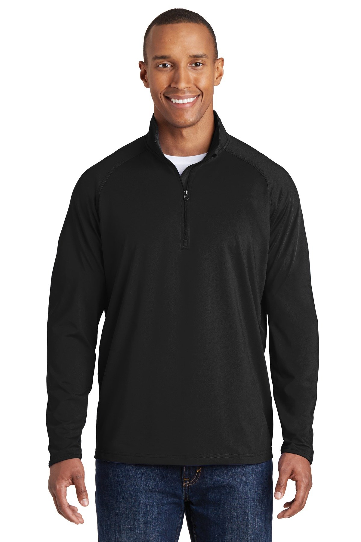 Sport-Tek 174 Sport-Wick 174 Stretch 1/2-Zip Pullover. ST850 X-Large Black by Sport-Tek