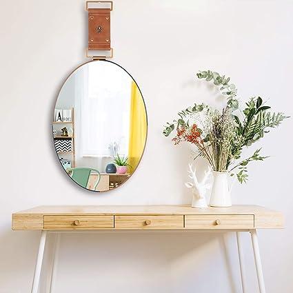 Modern Wall Mounted Mirror Round Glass Bathroom Bedroom Makeup Dressing Decor