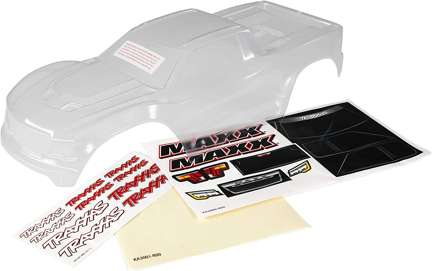 Maxx Heavy Duty Traxxas 8914 Body Clear, Untrimmed, Req Painting //Masks/&Decals