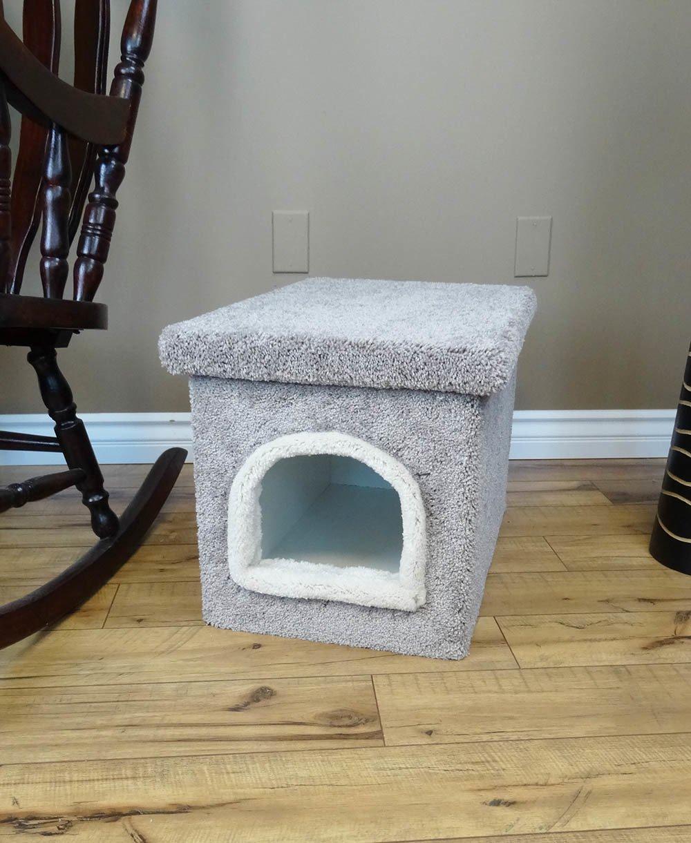 Gray Carpet Cat Litter House Kitty Litter Furniture