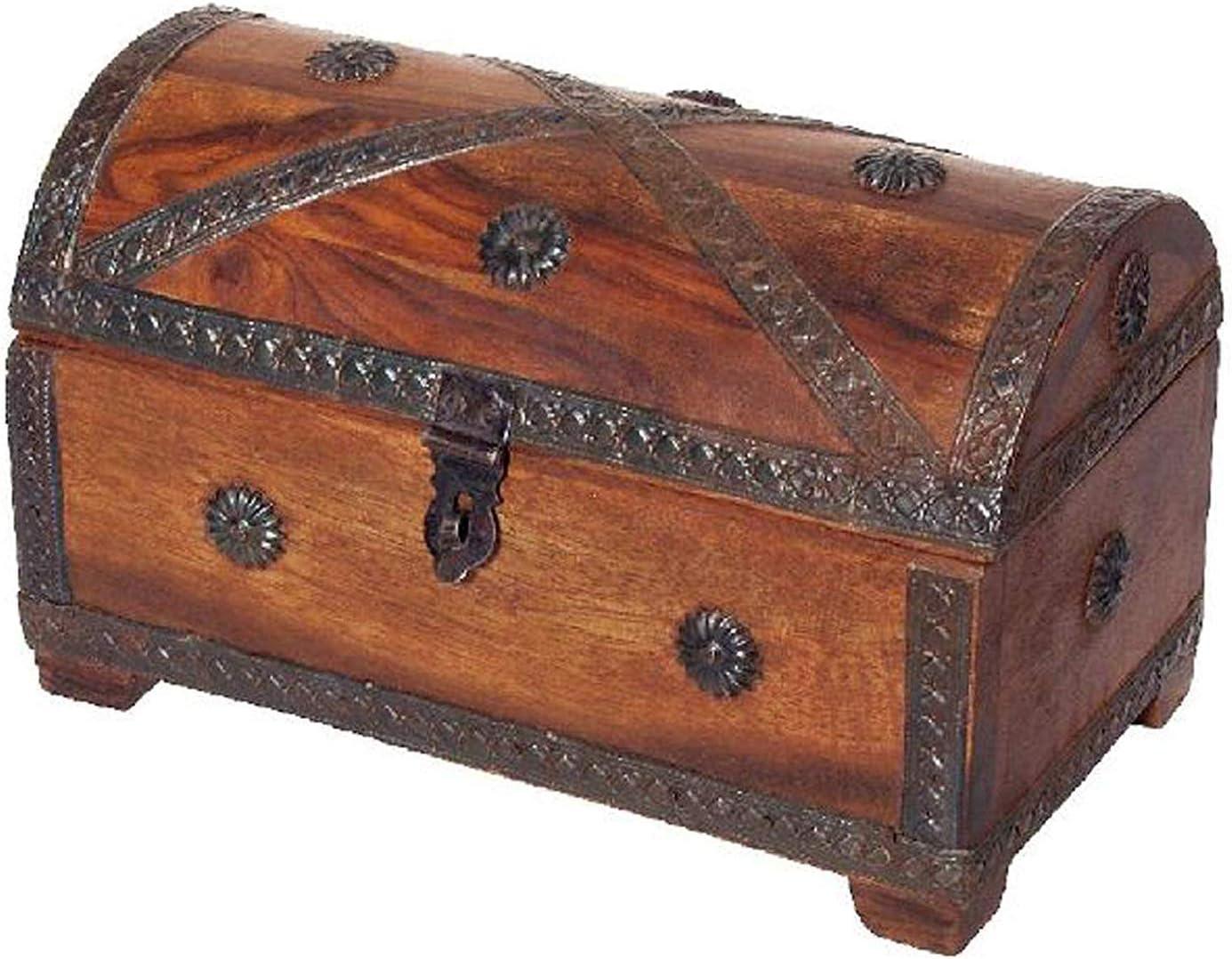 Art.-Nr 23 cm breit 107178 Bartl Holztruhe Schatztruhe Piratenkiste aus Massivholz