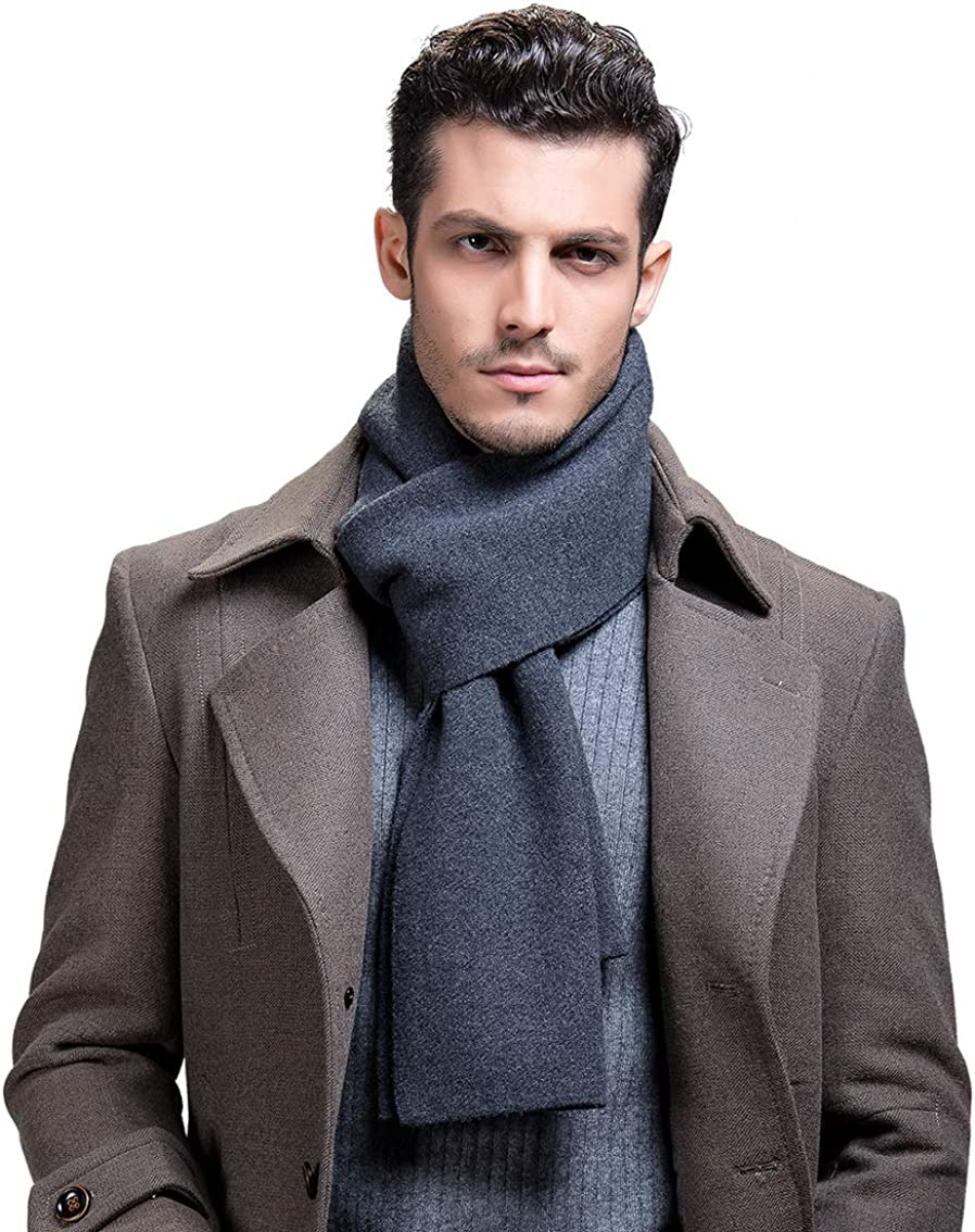RIONA Men's 100% Australian Merino Soft Warm Max 64% OFF Wool Knitted Selling and selling Scarf