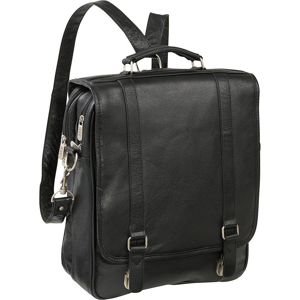 AmeriLeather Leather Laptop Backpack Briefcase (Black) by Amerileather
