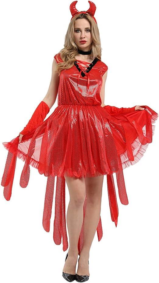 BGROEST-cloth Vestido de Dama de Halloween Disfraz de Halloween ...