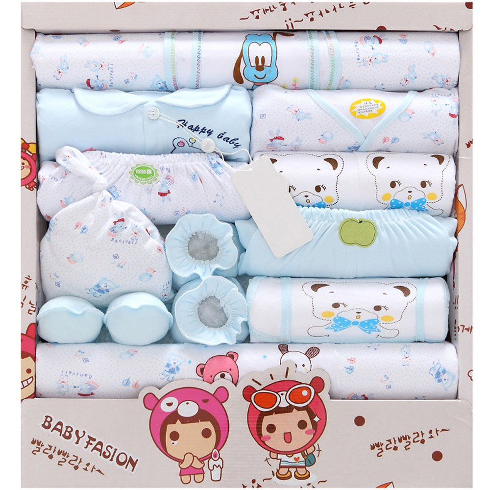 CdyBox 18 Piece Baby Layette Set Shower Gifts Newborn Essentials