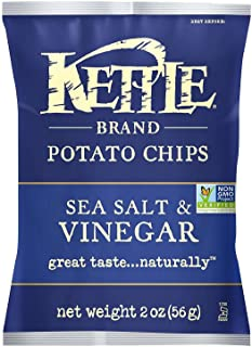 product image for Kettle Brand Potato Chips, Sea Salt & Vinegar Bags, 2 Ounce (Pack of 24)
