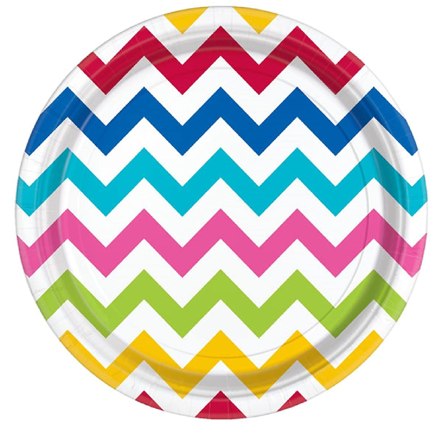Rainbow Chevron Polka Dot Spotty 12ft Bunting Garland Banner Colourful Bright Girls Boys Ladies Mens Birthday Party Celebration Event Summer BBQ Beach Party Paper Tableware Decorations Accessories (Bunting) Fancy Me