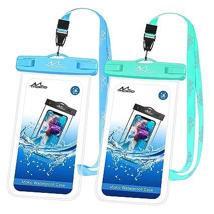 Amazon.com: MoKo - Funda impermeable para teléfono móvil, 2 ...