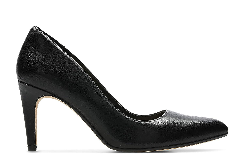 Schwarz(schwarz Leather) Clarks Damen Laina Rae Pumps