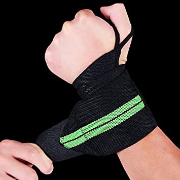 2pcs Wrist Wraps Hand Brace Crossfit Wrist Wraps Support Bands for Weightlifting Exercise Martial Arts Tennis