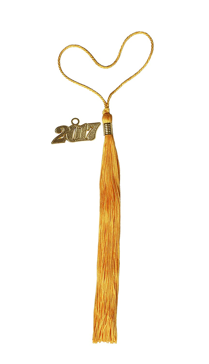 GradPlaza Graduation Tassel with 2017 Year Charm Gold 6926358887442