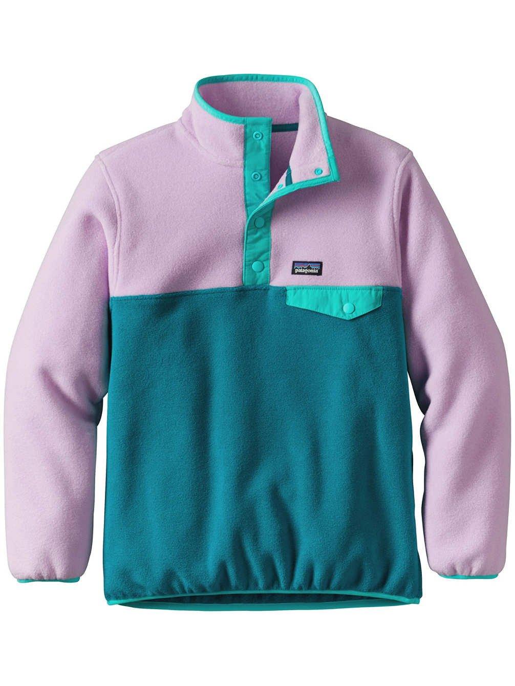 Patagonia G LW Synchilla Snap-T Pullover Sweatshirt Elwha Blue Girls XL