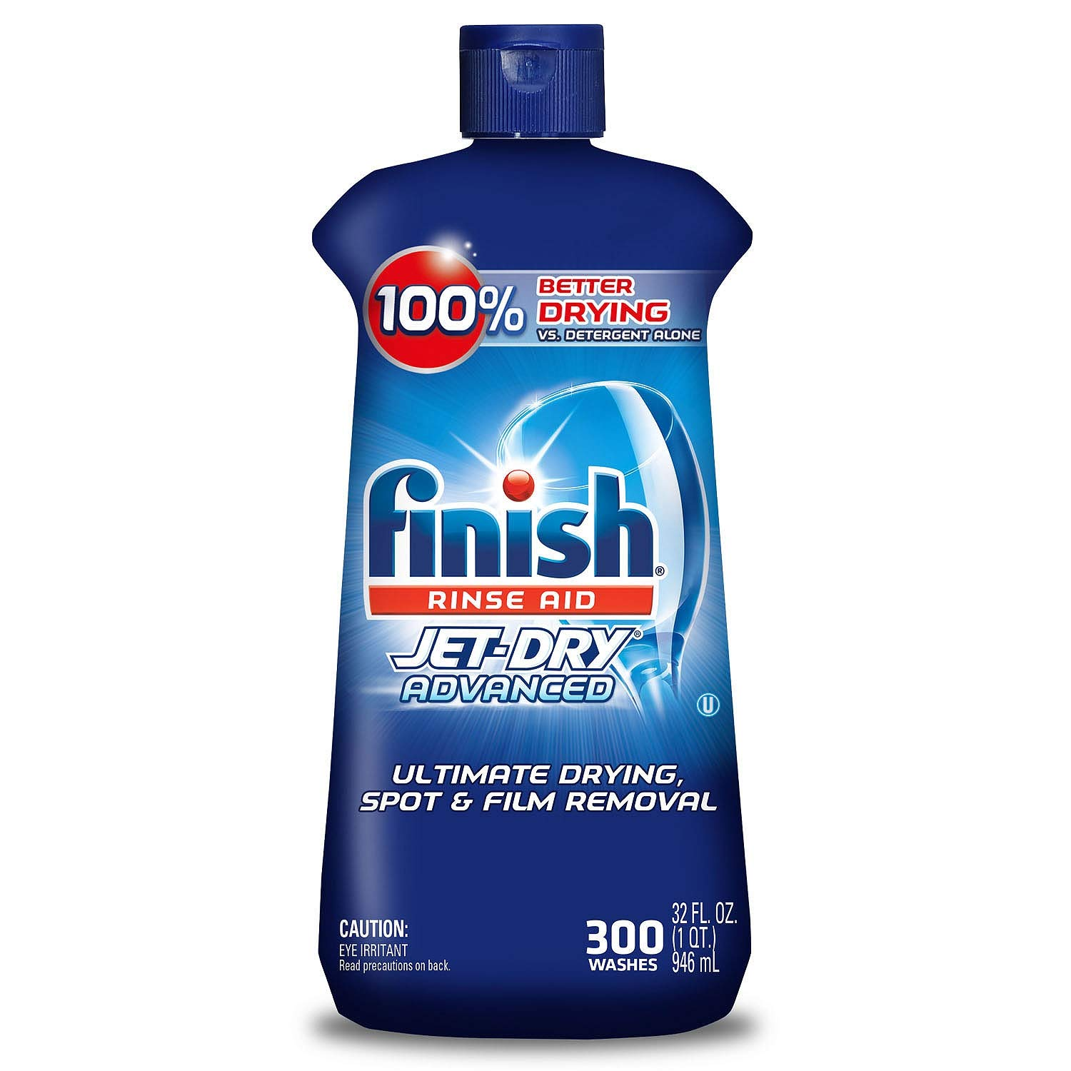 Finish Jet Dry Rinse Aid, Dishwasher Rinse Agent, 64 fl oz by N/A
