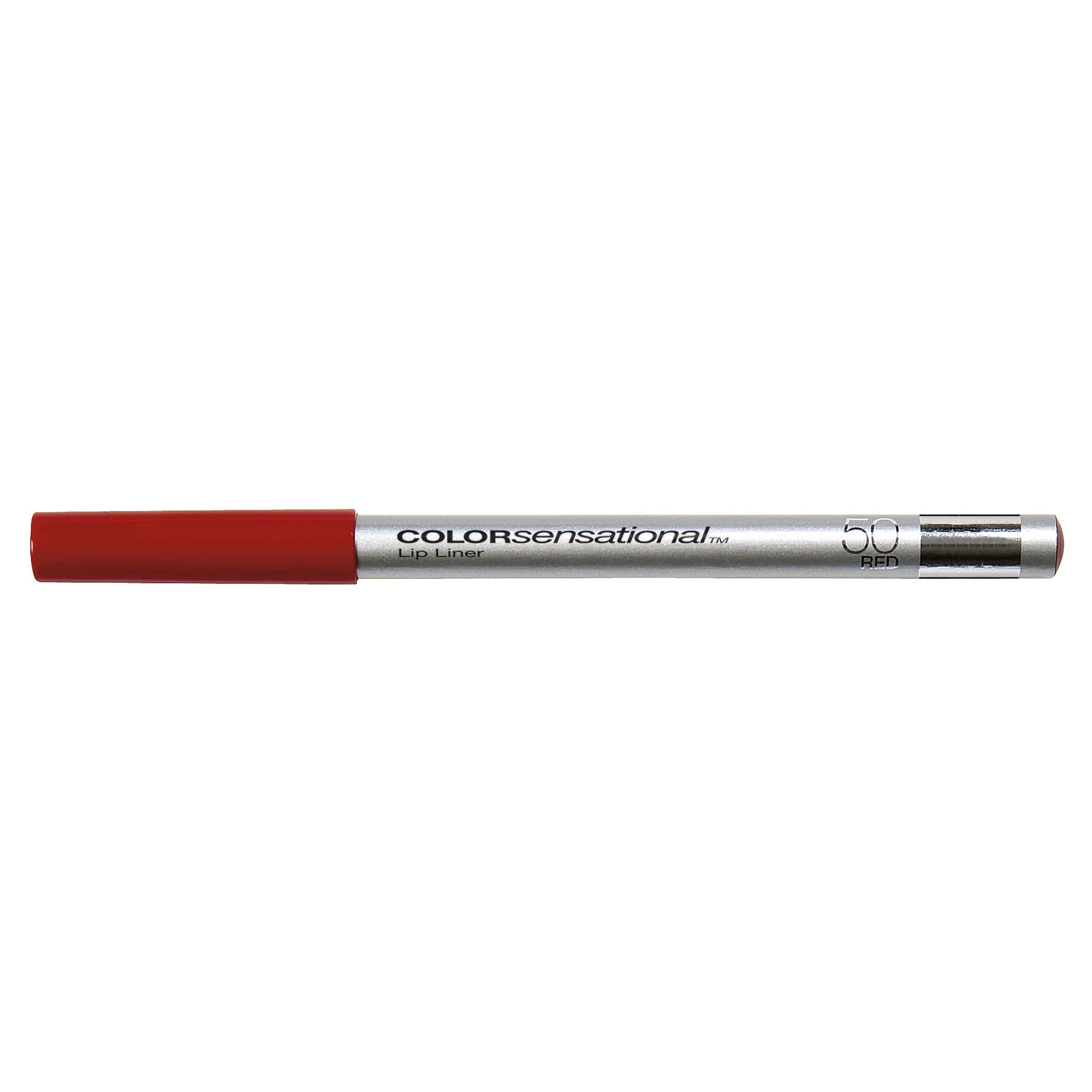 Maybelline New York ColorSensational Lip Liner, Red 50, 0.04 Ounce