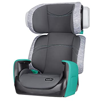 Evenflo Spectrum 2 In 1 Booster Seat Ergonomic Seat Base Machine Washable High Back Booster
