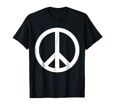 Amazon White Peace Sign T Shirt Clothing