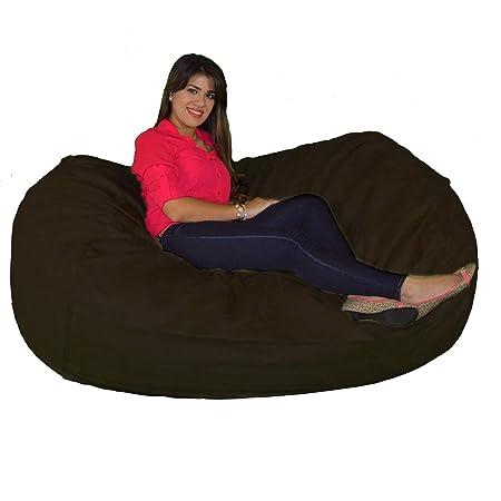 Cozy Sack 640-CBB-CHOCOLATE Maui Beanbag Chair, 6 , Chocolate