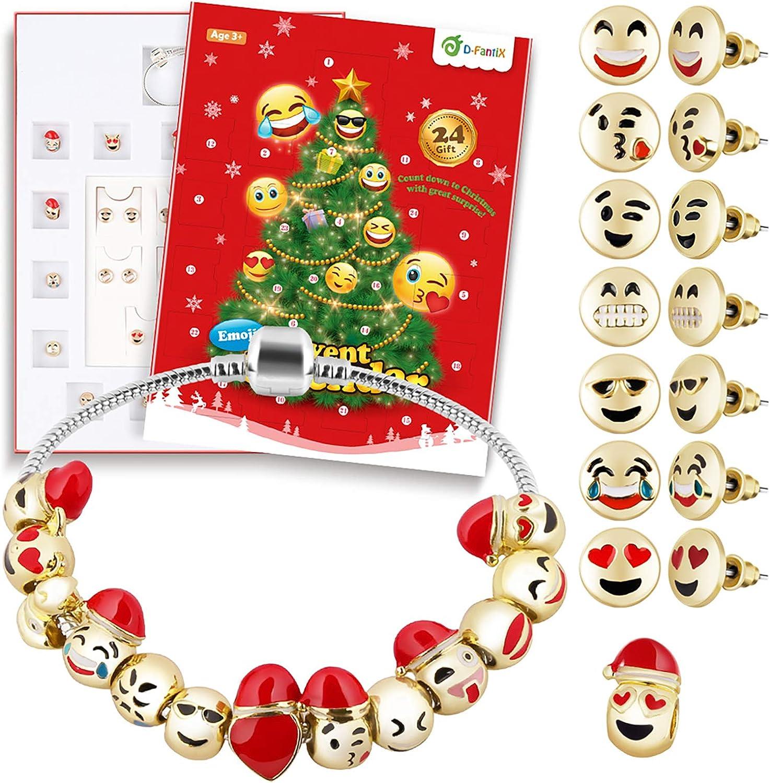 Amazon Com D Fantix Jewelry Advent Calendar For Girls 2020 Christmas Countdown Advent Calendar Diy Bracelet Earring Countdown To For Kids Children Teen Women Home Kitchen