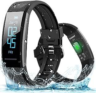 ELEGIANT Pulsera de Actividad Inteligente, Reloj Deportivo IP67 para Hombre Mujer con GPS Monitor de Sueño Podómetro Contador Calorías Notificación de Whatsapps Facebook Llamadas para iOS Android: Amazon.es: Deportes y aire libre